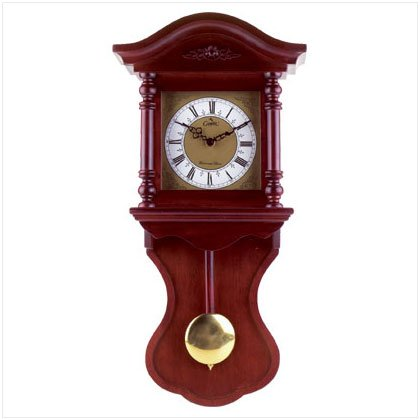 WOOD WALL CLOCK W/CHIME