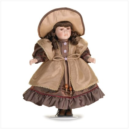 "16"" PORCELAIN DOLL WITH HAT"