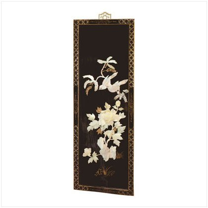 LAQ`D WOOD SCREEN YELLOW FLORAL