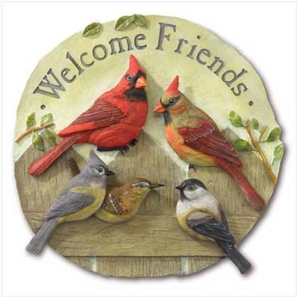 WELCOME FRIENDS GARDEN PLAQUE