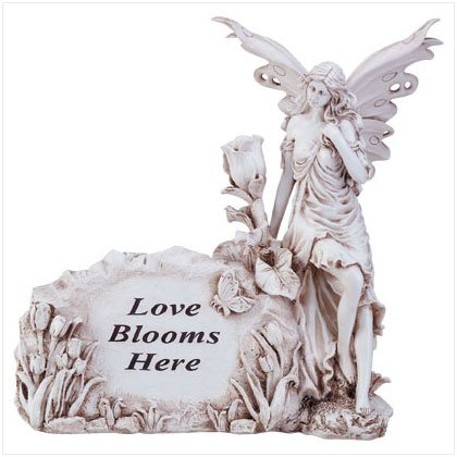 ANTIQ IVORY FAIRY STONE SIGN