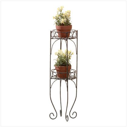 METAL 2 TIER PLANTER SHELF