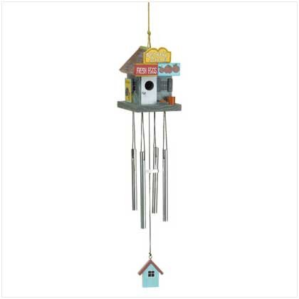 WOOD BIRDHOUSE WINDCHIME