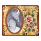 ROSES 4 X 6 GLASS PHOTO FRAME
