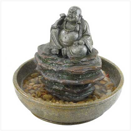 POLYRESIN BUDDHA FOUNTAIN