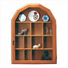 WOOD CURIO CABINET-GLASS DOOR