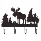RUSTED METAL MOOSE COAT HANGER