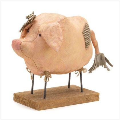 PIG FABRIC FIGURINE