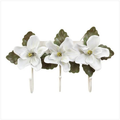 MAGNOLIA CLOTHES HOOK WALL PLAQUE