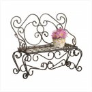 METAL RUSTIC PLANTER/BENCH