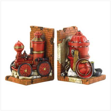 FIRE DEPARTMENT BOOKENDS
