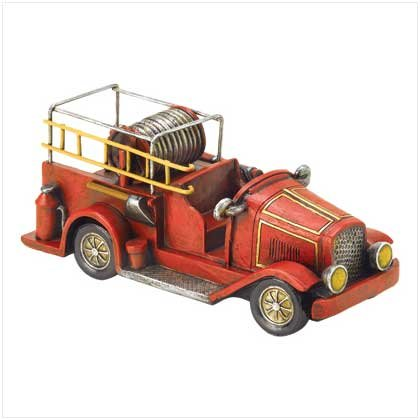 FIRE TRUCK -POLYRESIN