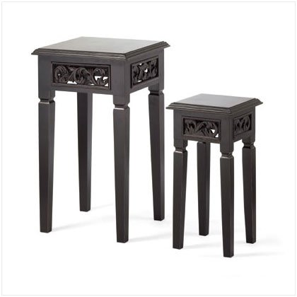 DISTRESS BLACK NESTING TABLES