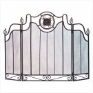 METAL MEDALLION FIREPLACE SCREEN