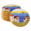 6 PC PATCHWORK COAST COASTERS