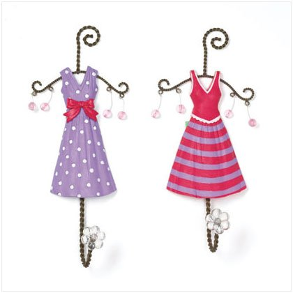 SET OF 2 POLKA DOTS DRESS HOOK