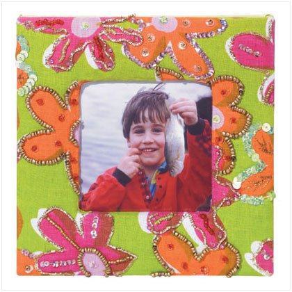 FLORAL FABRIC 3 X 3 PHOTO FRAME