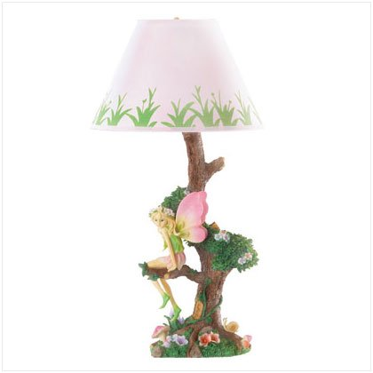 FAIRY SITTING ON TREE LAMP