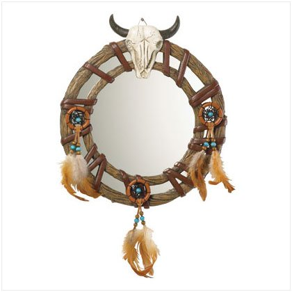 ALAB BULL SKULL HEAD MIRROR