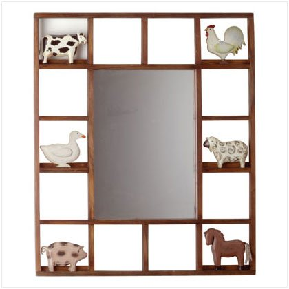 COUNTRY ANIMALS WALL MIRROR