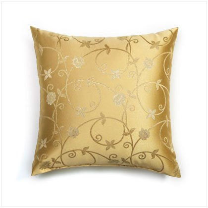 GOLD VINES EMBROIDERY PILLOW