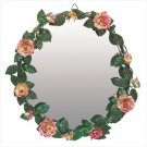 DISTRESS GREEN ROSES MIRROR
