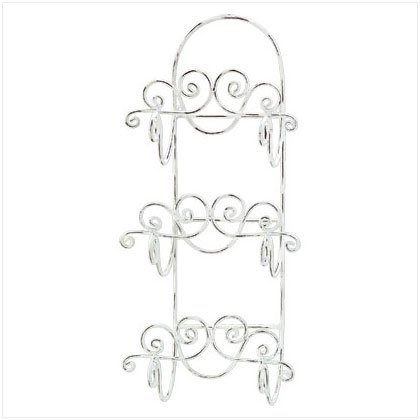 DISTRESS IVORY WALL TOWEL HOLDER