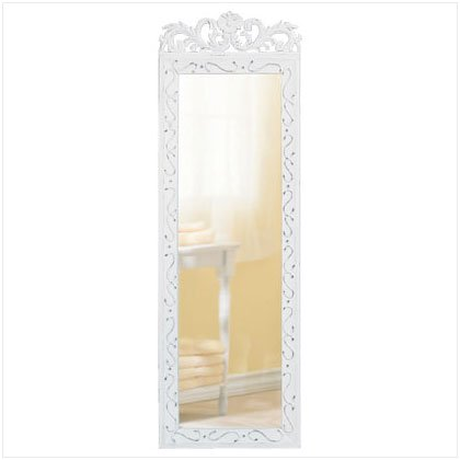 DISTRESS WHITE WALL MIRROR-1