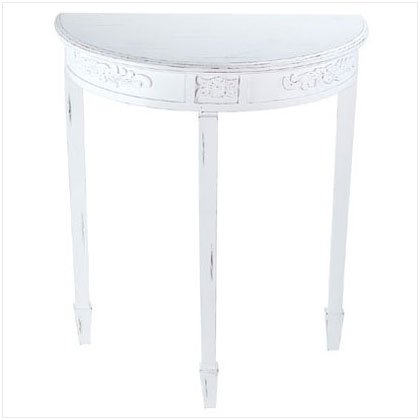 DISTRESS WHITE WOOD HALL TABLE-1