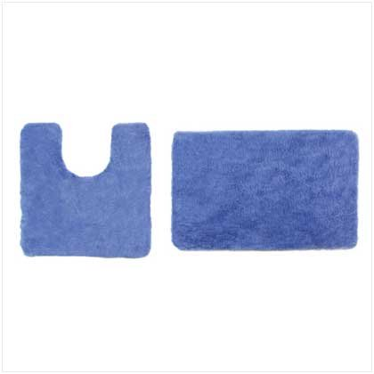 2 PC BATH MAT SET - NAVY COLOR