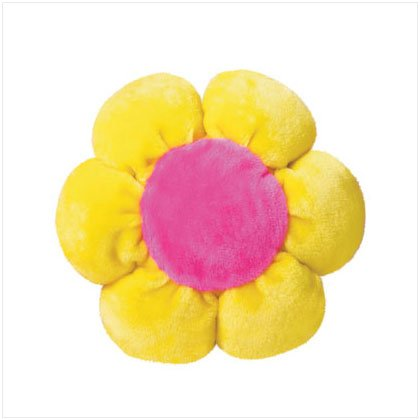 YELLOW PLUSH FLOWER CUSHION