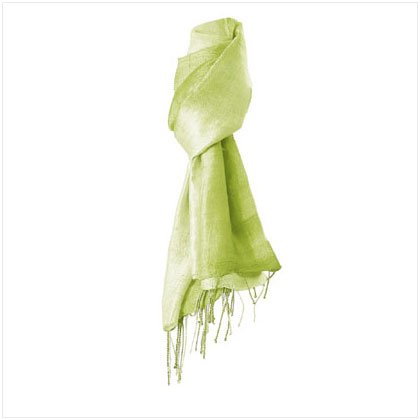2 TONE GREEN COLOR SILK SCARF