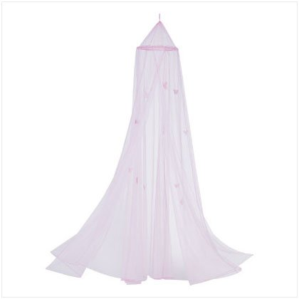 PINK GID BUTTERFLY BED CANOPY