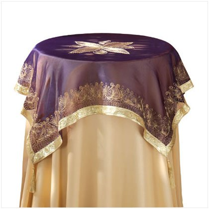 PURPLE TABLECLOTH/TASSELS