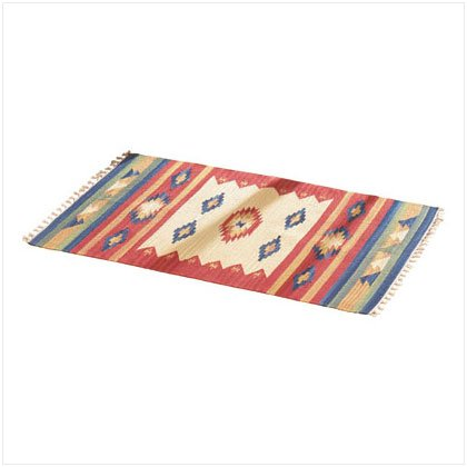 WESTERN COTTON CUT SHUTTLE RUG-1