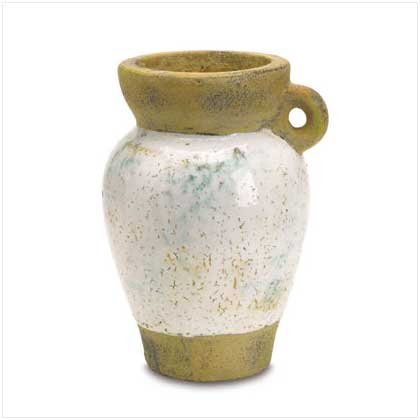 DISTRESSED ONE-HANDLE VASE