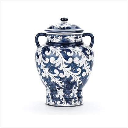 BLUE ASIAN-INSPIRED URN
