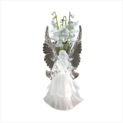 FROSTED ACRYLIC ANGEL VASE