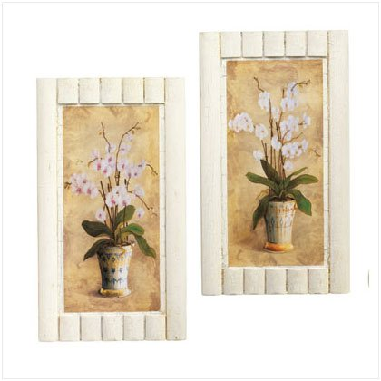 2 PC. FLORAL WALL ART