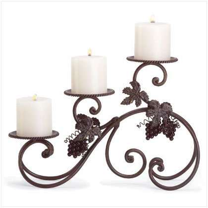 METAL GRAPES CANDLEHOLDER