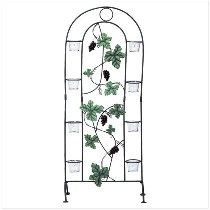 METAL GRAPES CANDLE SCREEN