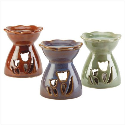 PORCELAIN FLOWER OIL WARMER - PK 3
