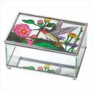H-BIRD STAIN GLASS JEWELRY BOX