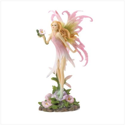 FAIRY HOLDING FLOWER FIGURINE