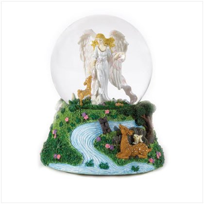 GUARDIAN ANGEL MUSIC SNOWGLOBE