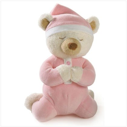 PINK GIRL PRAYER BEAR