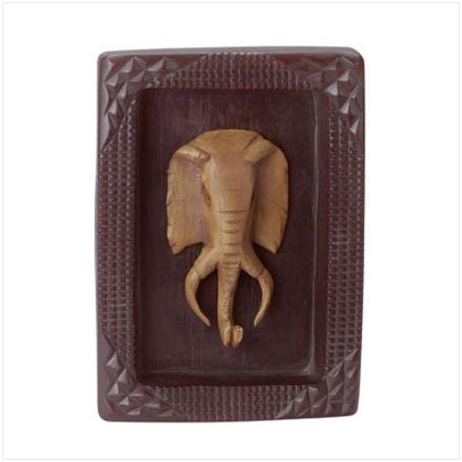 ALAB FRAMED ELEPHANT MASK PLAQUE