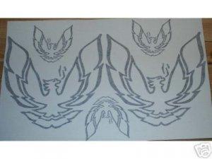 Firebird Trans Am sail panel & nose decal set decals