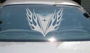 HUGE Pontiac arrow flame decal Grand Prix Am GTO GTP Firebird