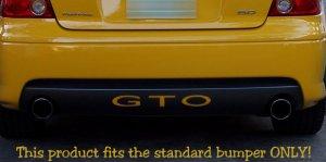 Pontiac GTO rear bumper inlay